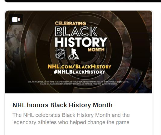 Black month in NHL