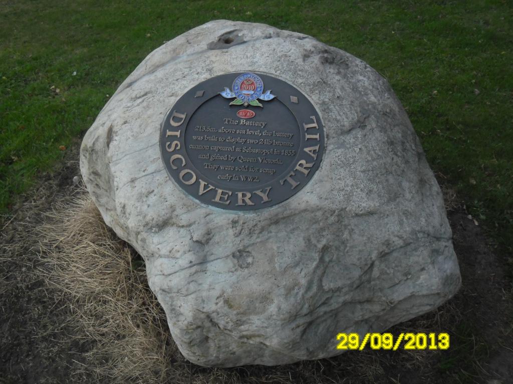 Памятный знак в парке Блекберна (Англия)